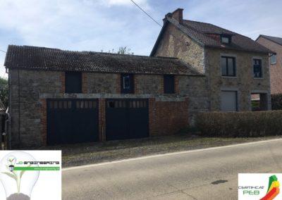 Certification PEB d'une maison 4 façades en pierre réalisé par JD Engineering