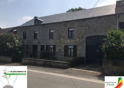 Certificat PEB d'une maison en pierre grise réalisé par JD Engineering