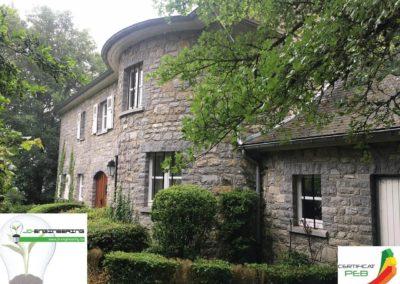 Certificat PEB d'une maison en pierre réalisé par JD Engineering